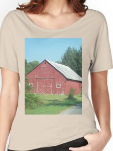 Nice Rustic Red Barn  Women's Relaxed Fit T-Shirt
