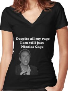 Despite All My Rage Women's Fitted V-Neck T-Shirt