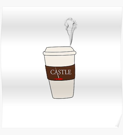 Castle coffee Poster