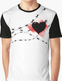 Barbed Wire Heart Graphic T-Shirt