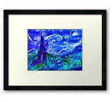 My starry night by Van Gogh, watercolor Framed Print