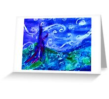 My starry night by Van Gogh, watercolor Greeting Card