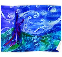 My starry night by Van Gogh, watercolor Poster