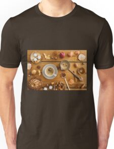 Christmas decoration on wood Unisex T-Shirt