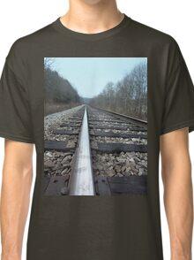 Steel Train Tracks Through the Appalachian Mountains Classic T-Shirt