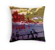 London, watercolor Throw Pillow