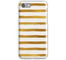 Gold Foil Stripes Pattern iPhone Case/Skin