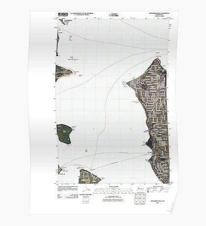 USGS Topo Map Washington State WA Duwamish Head 20110422 TM Poster