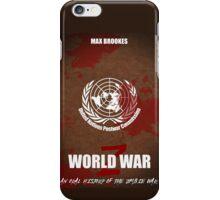 World War Z Cover iPhone Case/Skin