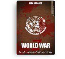 World War Z Cover Canvas Print