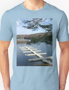 Empty Boat Docks on Lake Stevens in West Virginia Unisex T-Shirt