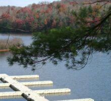 Empty Boat Docks on Lake Stevens in West Virginia Sticker