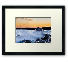 Waves Splash Framed Print