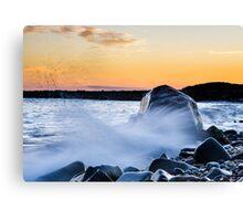 Waves Splash Canvas Print
