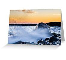 Waves Splash Greeting Card