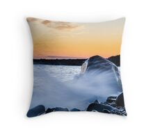 Waves Splash Throw Pillow