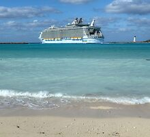 """The giant """"Allure Of The Seas"""" leaving Nassau Harbour in The Bahamas by Jeremy Lavender Photography"""