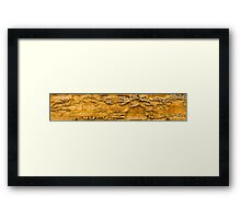 Murray River Walls Sandstone Abstract Framed Print