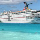 """Carnival Ecstasy"" in Nassau Harbour, The Bahamas by 242Digital"