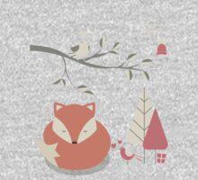 Christmas baby fox 06 Kids Tee