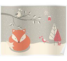 Christmas baby fox 06 Poster