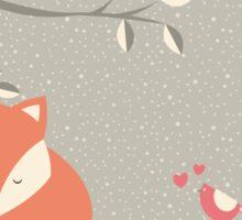Christmas baby fox 06 Sticker