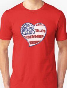 Patriotic Heart Unisex T-Shirt