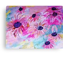 Life is so sweet, flowers to make your day happier, watercolor Canvas Print