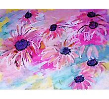 Life is so sweet, flowers to make your day happier, watercolor Photographic Print