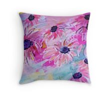 Life is so sweet, flowers to make your day happier, watercolor Throw Pillow