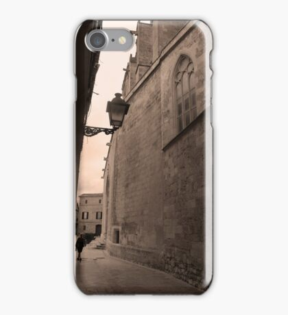 Walking the historic streets iPhone Case/Skin