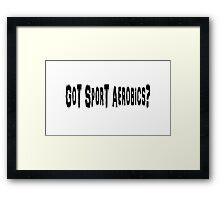 Sport Aerobics Framed Print