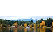 Wide Angle View Shawnigan Lake Boat House Photographic Print
