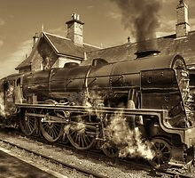 LMS Royal Scot - Sepia Version by © Steve H Clark Photography