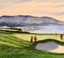 Pebble Beach 9Th Hole Sticker