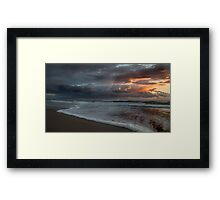 Stormy Morning on Dreamtime Beach Kingscliff Framed Print