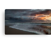 Stormy Morning on Dreamtime Beach Kingscliff Canvas Print