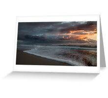 Stormy Morning on Dreamtime Beach Kingscliff Greeting Card