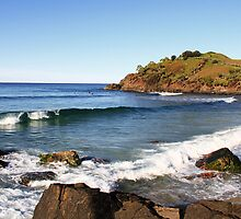 Surfing Cabarita by Ron Finkel