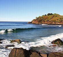 Surfing Cabarita by Ron Finkel