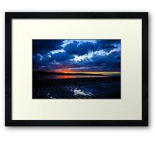 Sunset Over Lake Michigan Framed Print