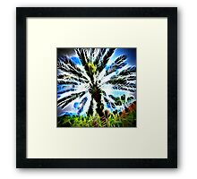Exploding Spikes and Hearts Framed Print