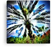 Exploding Spikes and Hearts Canvas Print