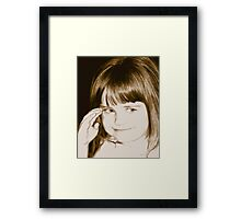 High-Key Cuteness Framed Print