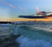 Rolling Waves South Beach Kingscliff by Ron Finkel