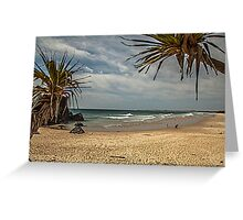 Dreamtime Beach Fingal Head Greeting Card