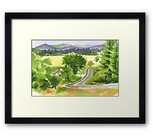 That Ribbon of Highway Framed Print