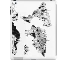 world map black and white 2 iPad Case/Skin