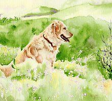 Golden Retriever Chance by Yvonne Carter