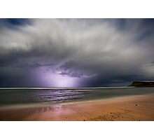 Moonlight storm at Lennox Head, NSW Photographic Print